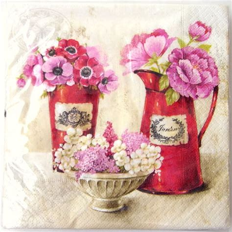 Paper Napkin Decoupage - paper napkin decoupage with 20 pieces of towels