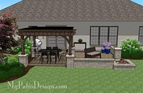large rectangular paver patio design  fire pit