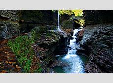 moss gorge watkins glen state park falls-Scenery HD ... Japanese Wallpaper