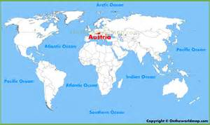 Austria On World Map austria location on the world map