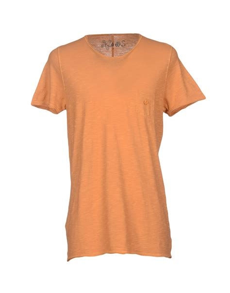 Kaos T Shirt Tshirt Wrangler kaos t shirt in orange for apricot lyst