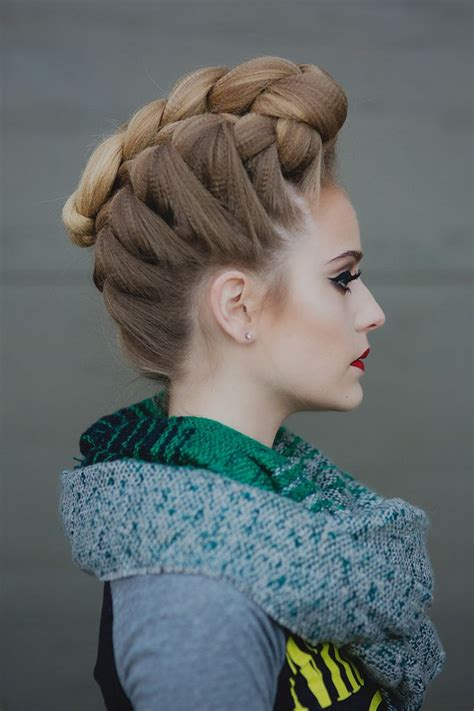 french braided pompadour hairstyle tutorial hair styles