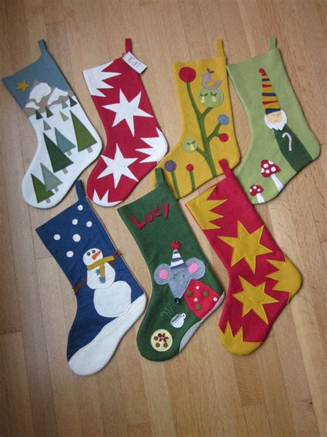 themes for christmas stockings cute ideas wool felt christmas stocking by
