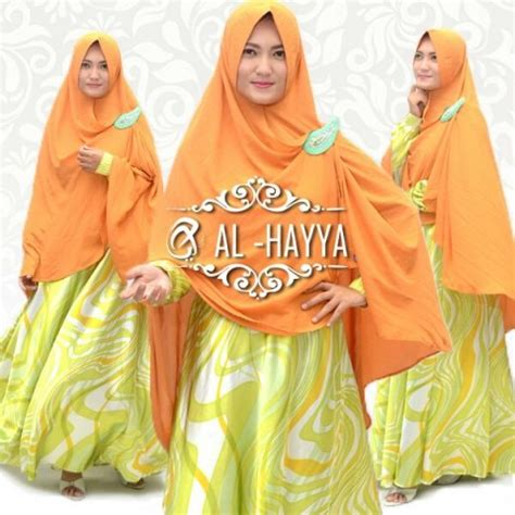 Gamis Hayya gamis syari cantik a156 satin baju muslim modern butik