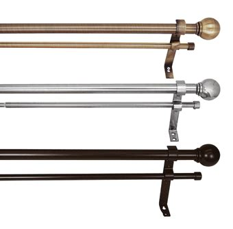 1 inch curtain rods curtain rods and accessories 1 inch double curtain rod