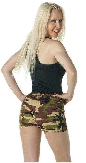 Hotpants Hotpant Army camo lycra shorts world