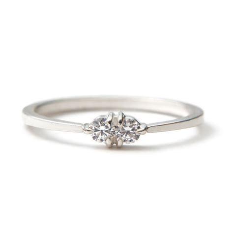 white gold toi et moi ring vintage inspired but