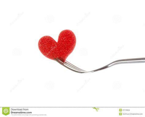 Cutlery Set by Restaurant Series Valentine Day Dinner On White