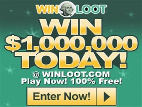 Free Lotto Sweepstakes - www winloot com play win up to 1 000 000 by participating in winloot free online