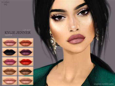 kylie sims 4 lip kit lipstick kylie jenner lip kit the sims 4 download simsdom