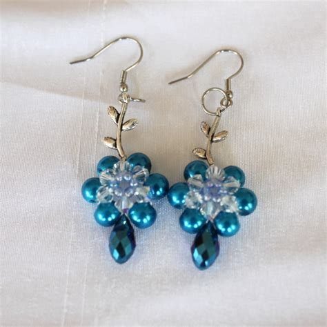 bead earrings how to make diy beaded leafy earrings tutorial