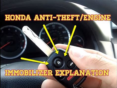 acura anti theft code honda anti theft engine immobilizer explanation