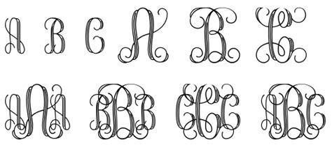 dafont vine 6 best images of printable monogram letters interlocking a