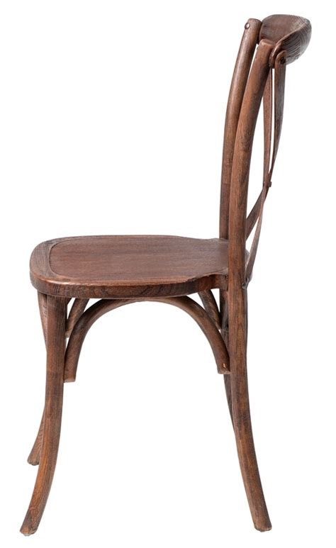 Mahogany Chiavari Chairs by Rustic Sonoma Solid Wood Cross Back Stackable Dining Chair