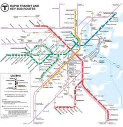 Map Of Boston T by Boston Subway The Quot T Quot Boston Public Transportation
