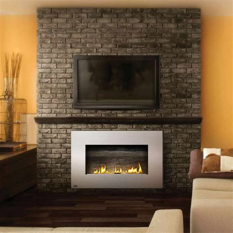 ventless fireplace modern bloombety modern ventless gas fireplaces with wall