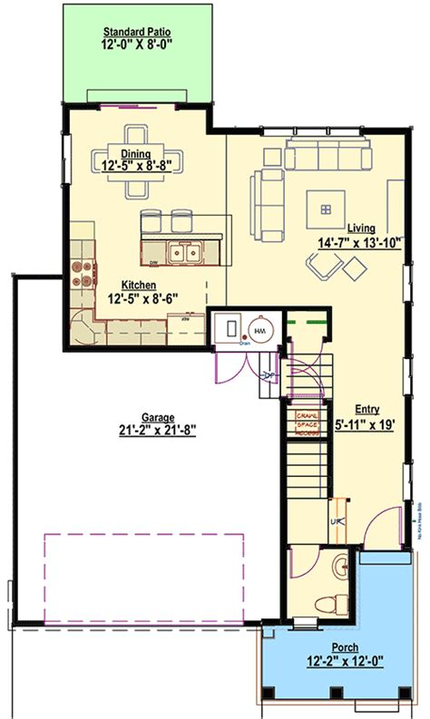 Narrow Lot House Plans Craftsman Narrow Lot Craftsman House Plan 64416sc Architectural Designs House Plans