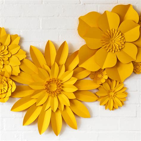 How To Make Handmade Paper Flowers - set of 13 handmade paper flowers by may contain glitter