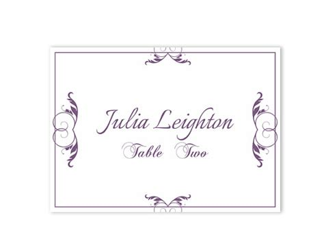 Themed Place Cards Template by Place Cards Wedding Place Card Template Diy Editable