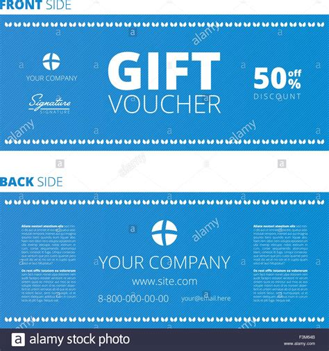 design of voucher and gift certificate coupon template