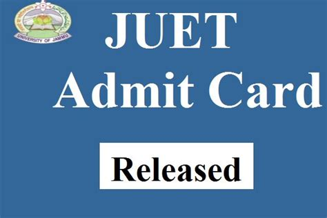 Mba Cet Admit Card 2017 by Juet Admit Card 2017 Released Jammu