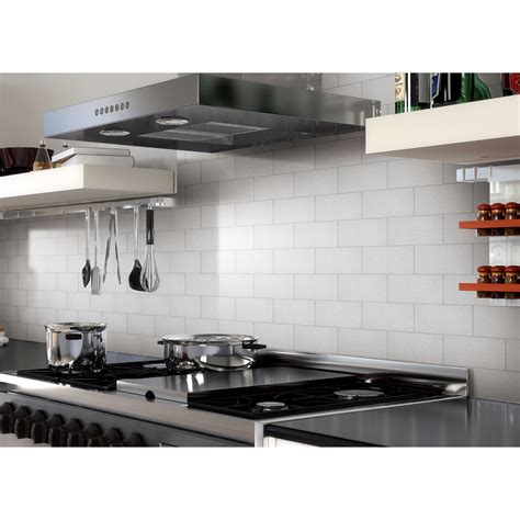 Aluminum Kitchen Backsplash 100 Pieces Peel Stick Aluminum Brushed Backsplash Tiles 3 Quot X 6 Quot Subway Tile