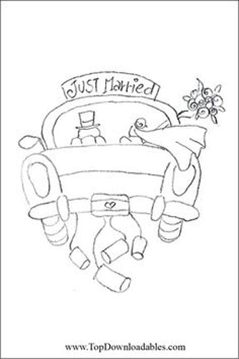 Just Married Auto Basteln Vorlage by Stickdatei Quot Just Married Quot Auto Hochzeitsauto