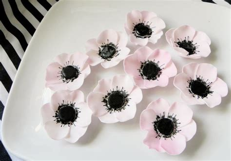 anemone edible edible fondant anemone sugar flowers priority shipping 6