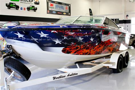 cool boat flags flag vinyl boat wrap zilla wraps boat wraps