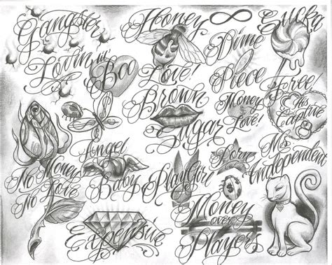 flash art tattoo designs free gangster drawings trelatatoo flash