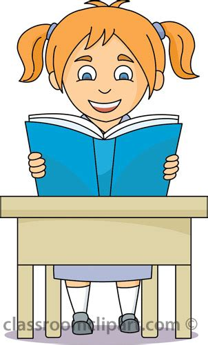 student at desk clipart school clipart student reading at desk classroom clipart