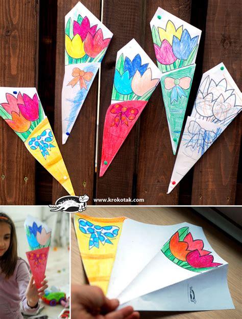 Krokotak Mothers Day Krokotak Paper Bouquet For Mother S Day