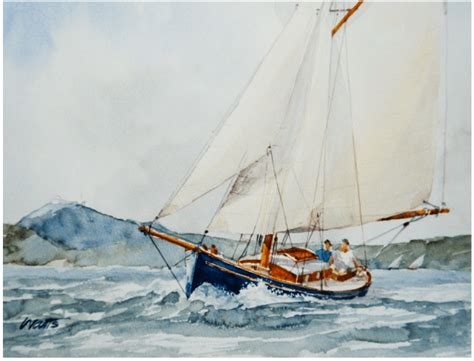 sailing boat watercolour an eye for a boat the watercolour paintings of tony
