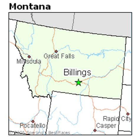 billings montana on map of usa best places to live in billings montana