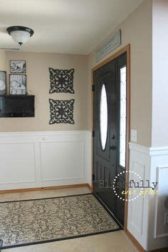 White Wainscoting With Oak Trim white wainscoting with oak trim door