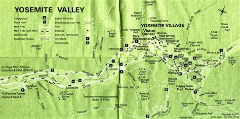 yosemite valley map map of yosemite map3