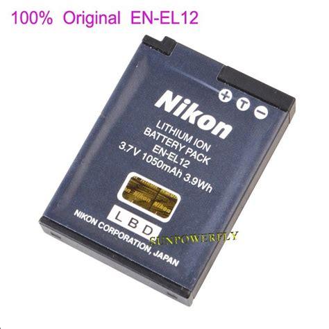 battery charger mh 65 genuine original nikon en el12 enel12 battery for coolpix