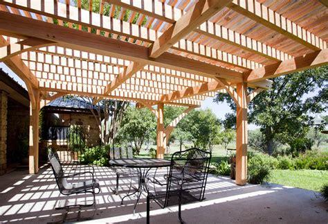 custom pergola timber frame outdoor living project