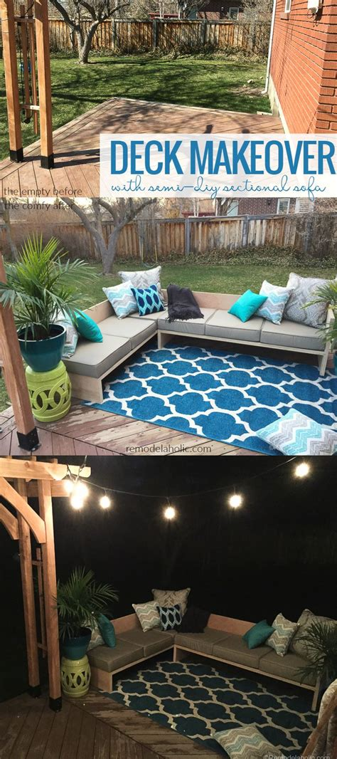 better homes and gardens ottoman cushions deck makeover with diy outdoor sectional sofa using