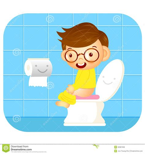boys going to the bathroom i go to the bathroom education and life character design series royalty free stock