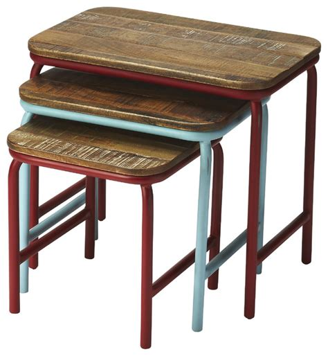 industrial coffee table set industrial chic nesting tables farmhouse coffee table