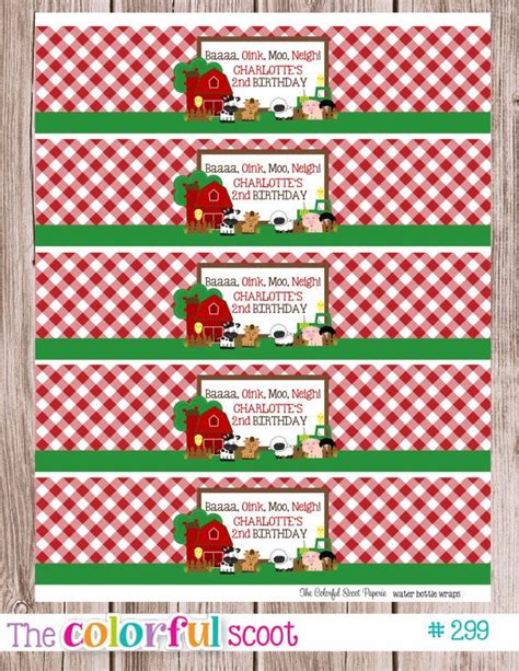 Free Printable Farm Party Labels