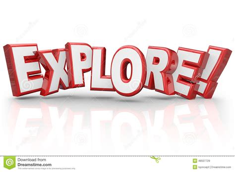 Adventure And Explore explore 3d word curious adventure inspection examination