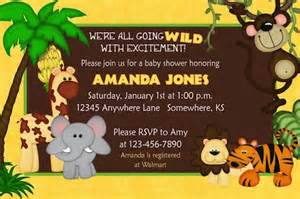 baby shower jungle theme invitations theruntime