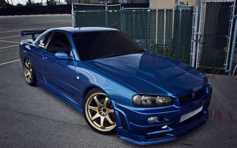 blue nissan gtr wallpaper wallpaper nissan skyline gtr r34 blue cars 4752x2970