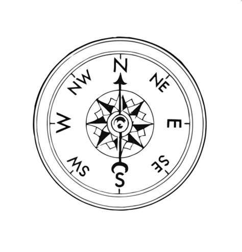 Compass Coloring Page clock compass coloring pages