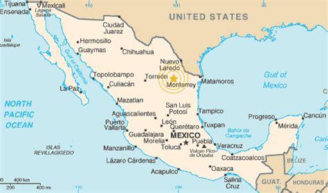 map of monterrey mexico maps of monterrey