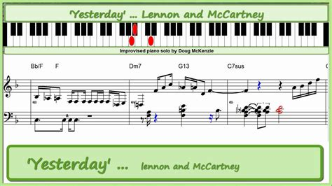 tutorial piano yesterday yesterday lennon and mccartney jazz piano tutorial