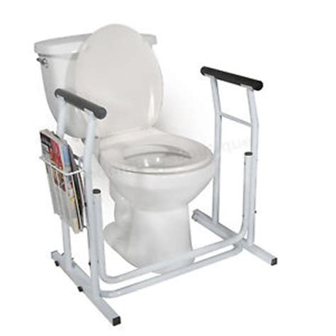 Handicap Stool by Toilet Safety Rails Bathroom Grab Bar Handicap Aid