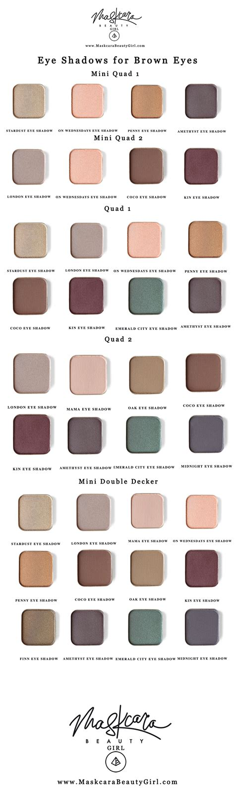 best eyeshadow for brown eyes with maskcara makeup